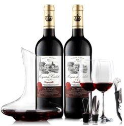【名庄精选】西班牙原瓶原装进口红酒 奥瑞安传说半干红葡萄酒组合750ml*2