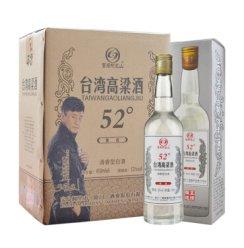 【可发货】台湾高粱酒 52度清香型白酒 台湾风味450ml*6瓶 整箱(新老包装随机发)