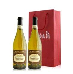 红酒客 意大利 圣马可—费兰卡蒂甜白葡萄酒双支礼袋装