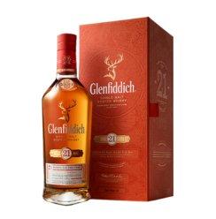 宝树行 格兰菲迪(Glenfiddich)单一麦芽纯麦威士忌进口洋酒正品 21年 格兰菲迪700ML